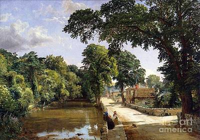 Geese Painting - Bonchurch Isle Of Wight by Jasper Francis Cropsey