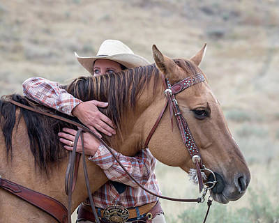 Photograph - Bond Between Rider And Horse by Jack Bell