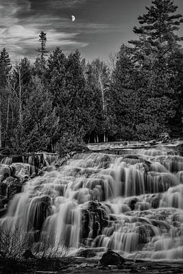 Photograph - Bond Falls II Bw by William Christiansen