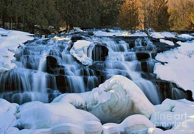 Photograph - Bond Falls In Winter by Matthew Winn