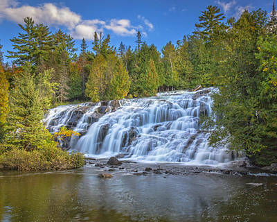 Photograph - Bond Falls by Jack R Perry