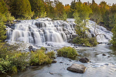 Photograph - Bond Falls - Left View by Jack R Perry