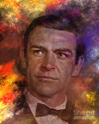 Bond - James Bond Art Print by John Robert Beck