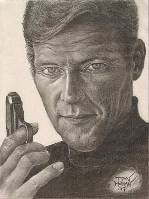 Drawing - Bond Portrait by Dan Moran