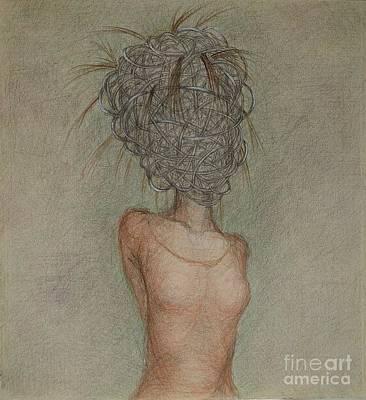 Drawing - Bondage by Chiyuky Itoga