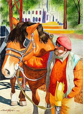 American Watercolor Society Painting - Bonded by Don Harvie