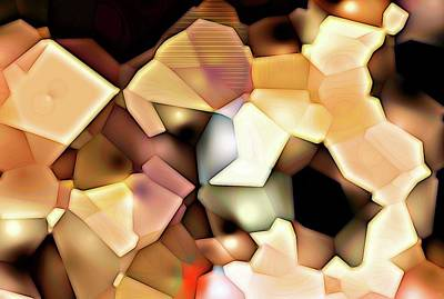Digital Art - Bonded Shapes by Ron Bissett