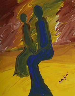 Bonded Spirits Art Print by Celesty  Claudio