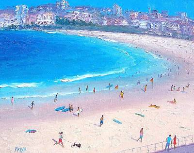 Sydney Vacation Painting - Bondi Afternoon by Jan Matson