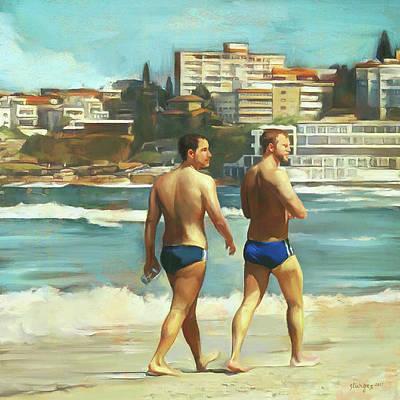 Digital Art - Bondi Beach Boys by Simon Sturge