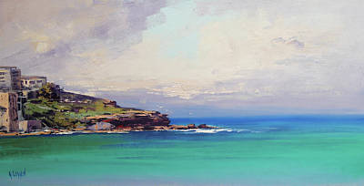 Impressionist Beach Painting - Bondi Beach Colours by Graham Gercken