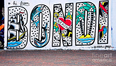 Photograph - Bondi Beach Graffiti - Photograph By Kaye Menner by Kaye Menner
