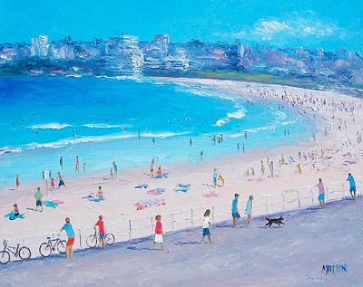 Bondi Beach Summer Art Print