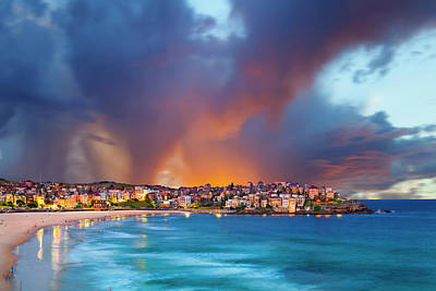 Bondi Beach Photograph - Bondi Pastels by Sean Davey