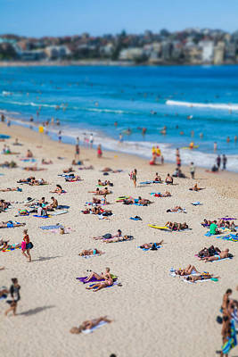 Beach Landscape Photograph - Bondi People by Az Jackson
