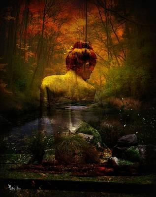 Digital Art - Bonding With Nature by Ali Oppy