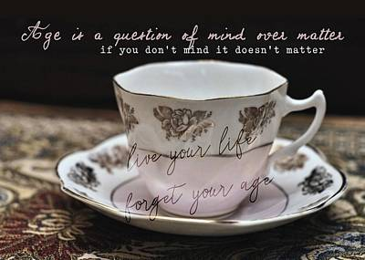 Photograph - Bone China Quote by JAMART Photography