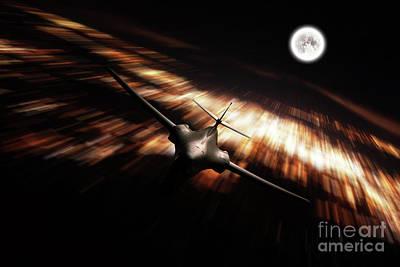 Lancer Digital Art - Bone Inbound by J Biggadike