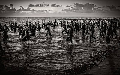 Photograph - Bone Island Triathletes by Joe Shrader