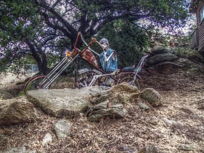 Bone Rattling Ride Art Print by Cindy Nunn