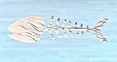 Bonefish Digital Art - Bonefish Negative by Rob Hans