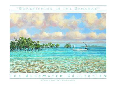Wall Art - Painting - Bonefishing Fine Art Poster by Guy Crittenden
