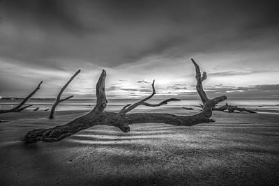 Photograph - Bones Beach Black And White by Debra and Dave Vanderlaan