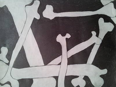 Internal Organs Drawing - Bones by William Douglas