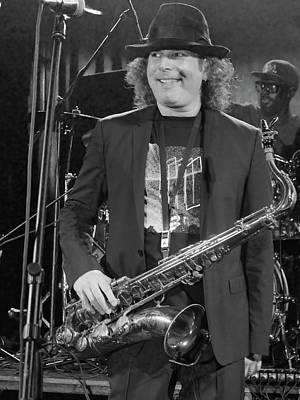 Photograph - Boney James Smiling At Hub City '17 by Leon deVose