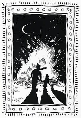 Fireworks Drawing - Bonfire Night by Stuart Ritchie