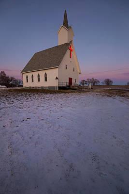 Photograph - Bonilla Snow Dusk by Aaron J Groen