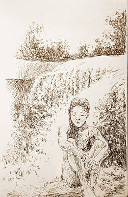 Drawing - Bonita by C H Apperson