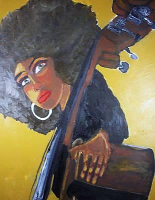 Large Earrings Painting - Bonita Chocolate Brown Bass by Samuel Banks