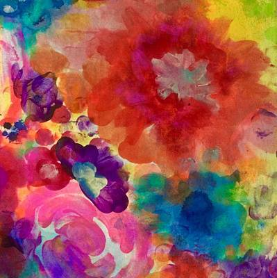 Abstract Flowers Royalty Free Images - Bonita Royalty-Free Image by Robin Mead
