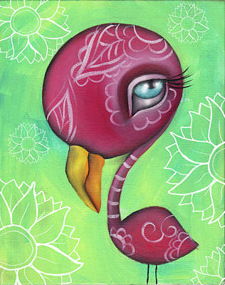Painting - Bonita The Flamingo by Abril Andrade Griffith