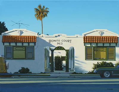 Michael Ward Painting - Bonito Court by Michael Ward