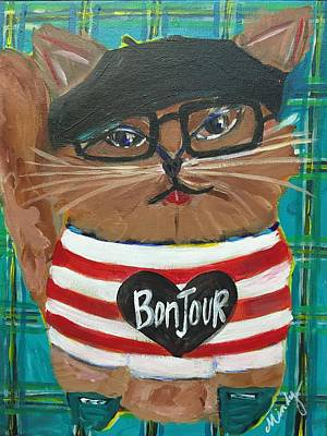 Painting - Bonjour Chat by Mindy Carpenter