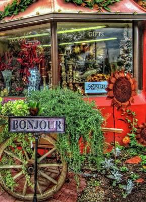 Photograph - Bonjour Hello Good Day by Thom Zehrfeld