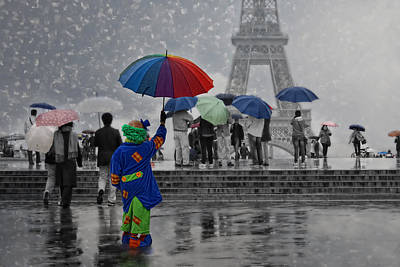 Rainy Day Photograph - Bonjour Paris by Joachim G Pinkawa