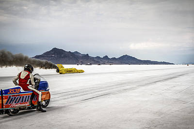 Classic Hot Rod Photograph - Bonneville Speed Week 2012 by Holly Martin