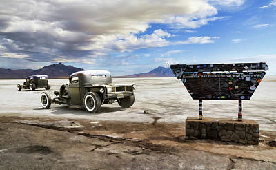 Dry Lake Racing Photograph - Bonneville Speedway Racers by Steve McKinzie