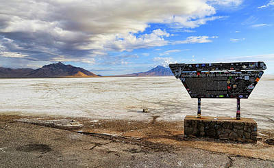 Dry Lake Racing Photograph - Bonneville Speedway by Steve McKinzie