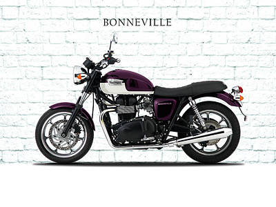 Triumph Bonneville Photograph - Bonneville T100 by Mark Rogan