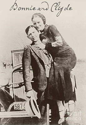 Bonnie And Clyde Photograph - Bonnie And Clyde by Mindy Sommers