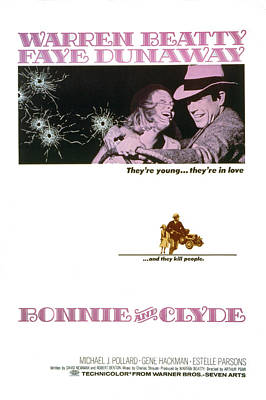 1960s Poster Art Photograph - Bonnie And Clyde,  Warren Beatty by Everett