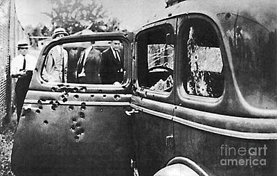 Photograph - Bonnie And Clyde's Bullet Ridden Car by Merton Allen