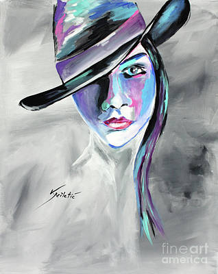 Abstract Painting - Bonnie - Cowgirl Art By Valentina Miletic by Valentina Miletic