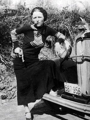 Bonnie And Clyde Photograph - Bonnie Parker  1910 - 1934 by Daniel Hagerman