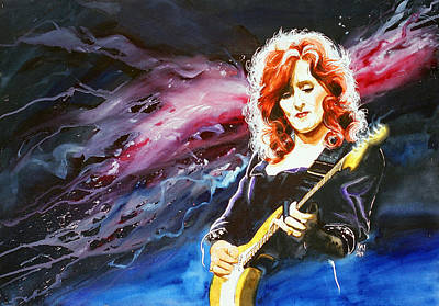 Bonnie Raitt Print by Ken Meyer jr