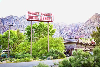 Photograph - Bonnie Springs Motel Resort by Tatiana Travelways